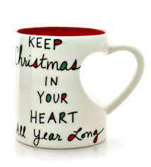 heart shaped mug christmas heart shaped mug by our name is mud from enesco
