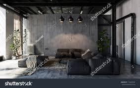 Minimalist Modern Minimalist Modern Living Room Sofas Loft Stock Illustration