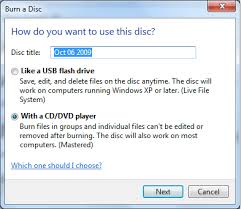 how to burn files to a cd or dvd in windows 7