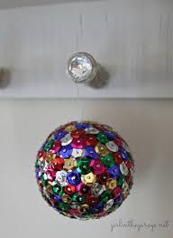 diy sequin u0026 tack ornaments upholstery tacks ornament and