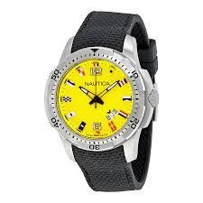 Black And Yellow Flag Nautica Ncs 16 Flag Yellow Dial Men U0027s Watch Nai13516g Nautica