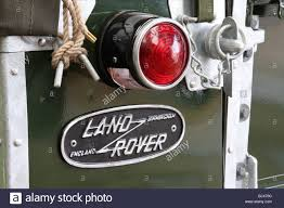 land rover one detail of well restored land rover series one rear light and badge