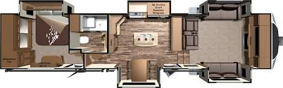 Camper Floor Plans Travel Trailer Bunkhouse Fifth Wheel With Outside Kitchen Front Living Room