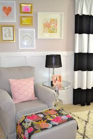 Neutral Curtains Decor How To Spice Up The Room With Black And White Striped Curtains