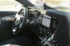 mercedes dashboard at night spied 2018 mercedes c class facelift interior spyshots