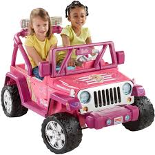 barbi benton children power wheels barbie deluxe jeep wrangler 12 volt battery powered
