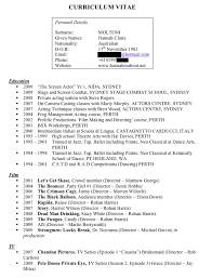 Movie Theater Resume Sample by Critiques Your Resumés