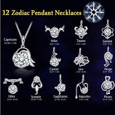 fine jewelry necklace store images New design 12 constellation pendant necklace for women silver jpg
