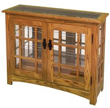 mission style china cabinet mission small console curio cabinet from dutchcrafters amish furniture