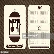 restaurant menu design template vector art getty images