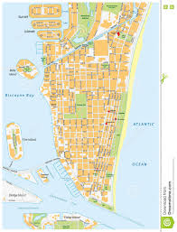 Florida Map Of Beaches by Miami Beach Street Map Florida Stock Illustration Image 72360395