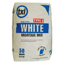 Cement Mix For Pointing Patio by Txi 50 Lb Type S White Mortar Mix 5327 The Home Depot