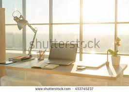 Interior Design Notebook by Side View Picture Studio Workplace Blank Stock Photo 539857576