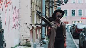 Fallout Halloween Costume Cosplayer Scary Halloween Costume Zombie Cowboy Hat
