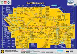 Map Of Munich Germany by Munich Night Train Tram And Bus Map
