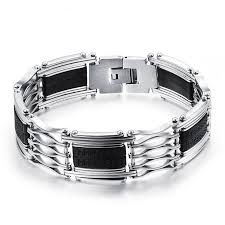 mens bracelet stainless steel rubber images 64 best men 39 s jewelry images men 39 s jewelry bangles jpg