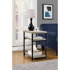 amazon com altra elmwood end table sonoma oak kitchen u0026 dining