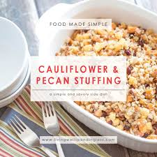 cauliflower and pecan vegetarian side dish for thanksgiving