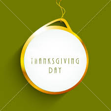 happy thanksgiving day concept with hanging sticker royalty free