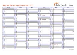 Kalender 2018 Feiertage Mv Feiertage 2012 Meck Pomm Kalender