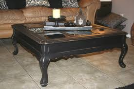 furniture distressed leather coffee table glass top coffee table