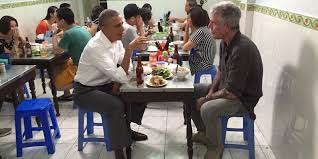 president obama had beer and noodles with anthony bourdain in