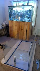 custom corner drop off tank diy reef2reef saltwater and reef