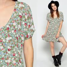 90s dress floral grunge dress 90s mini babydoll from shopexile on etsy