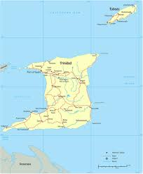 Spain On A Map Map Of Trinidad Tobago Port Of Spain