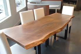 Natural Slab Dining Table Incredible Ideas Living Edge Dining Table Phenomenal Contemporary