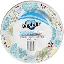 Decorative Plastic Plates Boulder 8 5 In Heavy Duty Decorative Paper Plates From Aldi