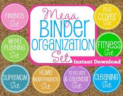 instant download home binder mega kit family binder