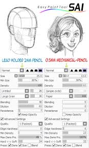 paint tool sai pencil brushes by beroleagle on deviantart