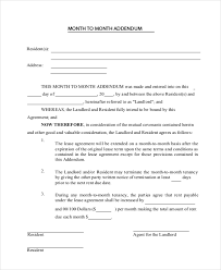 sample month to month lease form 6 free documents in pdf word