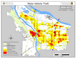 Map Downtown Portland by Portland State Criminal Justice Policy Research Institute