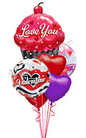 valentines day balloon delivery s day sweet cupcake balloon bouquet s day