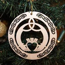 wooden christmas ornaments christmas ornament claddagh made in ireland