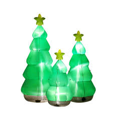 Outdoor Christmas Decorations At Home Depot 90 In 3 Tree Cluster 5524440 The Home Depot