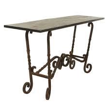 furniture stylish wrought iron console table ideas wrought iron