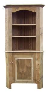 reclaimed barnwood corner hutch