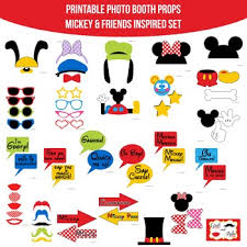 mickey mouse photo booth mickey mouse friends inspired printable photo booth prop set tpt