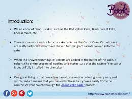 Cake Order Learn The History And Order Carrot Cake Online In Hyderabad