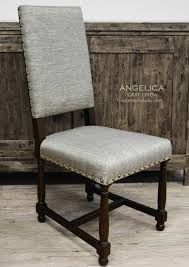 dining chairs old world angelica linen leather