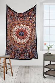 Light Colored Tapestry India Star Earth Hippie Bohemian Tapestry