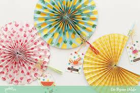paper fans diy diy paper fans with sunshiny days pebbles inc