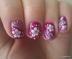 simple flower nail art how you can do it at home pictures