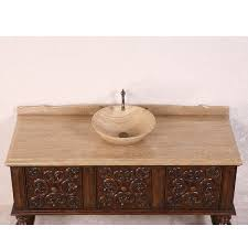 Bathroom Vanity Bowl by Antique Legion 59 Inch Bathroom Vanity Travertine Top Vessel Sink