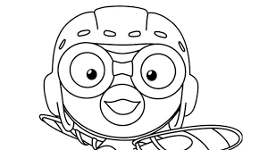 adventure pororo and his friends coloring pages for kids youtube