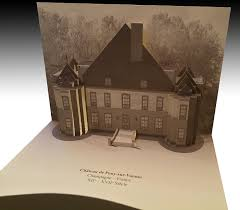 3d popup kirigami postcards with european monuments on behance