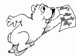 groundhog coloring pages kids coloring